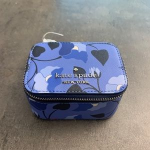 NWT Kate Spade jewelry holder blue floral